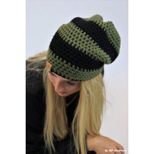 Hangover beanie Leger groen - zwart (MP128)